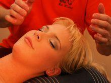 massage de cheveux